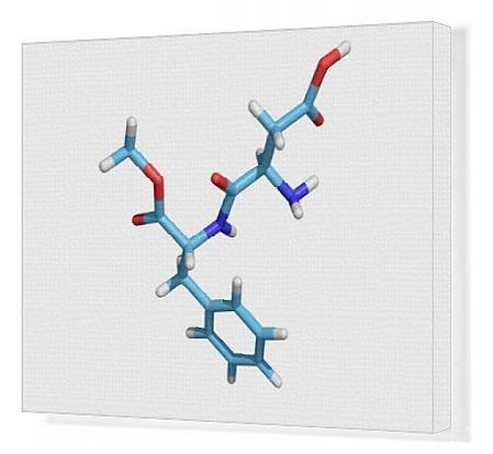 canvas-print-of-aspartame-molecule