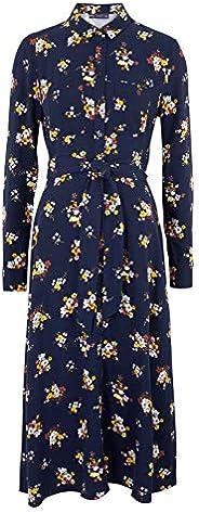 Marks & Spencer Women's Floral Belted Midi Shirt Dress,