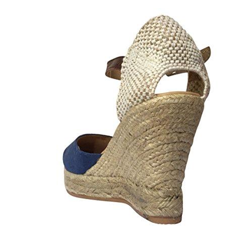 Macarena , Talons compensés femme Jeans Blue (ALBA59)