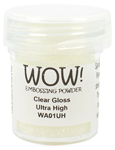 WOW transparent gloss-ultra hoch, Embossing-Puder, mehrfarbige, 5 x 3 x 3 cm (Glow In The Dark Pulver Set)