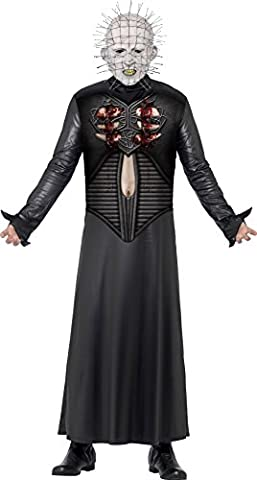 Smiffy's Men's Pinhead Costume, Tunic & Mask, Size: L, Colour: Black, 27149