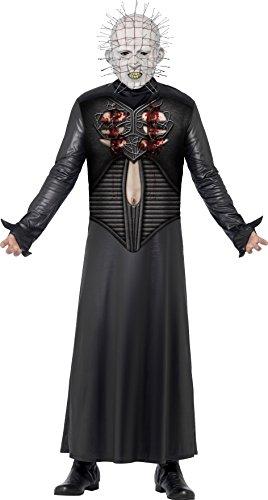Kostüm Pinhead Hellraiser (Smiffys, Herren Pinhead Kostüm, Bedruckte Tunika und Maske, Hellraiser, Größe: M,)