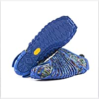 LI Vibram envolvió Zapatos, Cinco Zapatos Deportivos ultraligeros de Cinco Dedos de Tela Unisex Zapatos Deportivos para Adultos,Blue,M