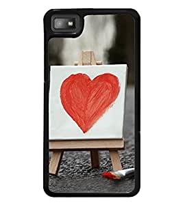 Bright Red Heart 2D Hard Polycarbonate Designer Back Case Cover for BlackBerry Z10