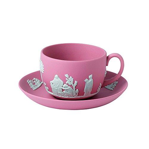 Wedgwood Jasperware Teetasse und Untertasse, Rose, Einheitsgröße Wedgewood Jasperware