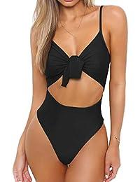 ❤️JiaMeng Bikini 2018,Las mujeres atractivas push-up anillo de acero acolchado Bra Beach Bikini Set Swimsuit Stripe Swimwear
