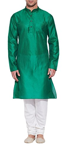 SmaragdgrünerSeideKurtafürMänner-HerrenindischeMode-aus (Party Männer White Outfits Alle)