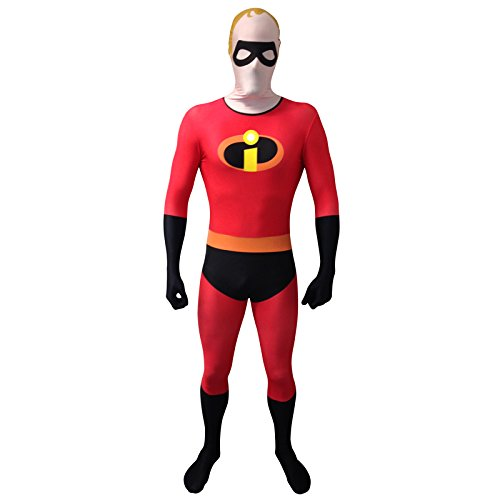 Morphsuits Disney Pixar Mr Incredible Unisex adulto Cosplay Costume (grande, rosso)