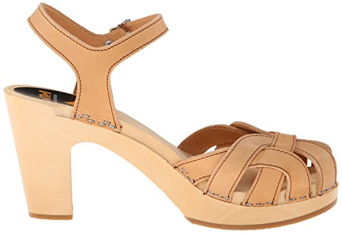 Swedish Hasbeens - Pearl Sky High, Scarpe spuntate Donna Beige (Nature)