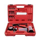 Vosarea Vakuumpumpe Handpumpe Bremsenentlüftungsset für Vakuumpumpe manuell für Dampfschutz (roter Box)