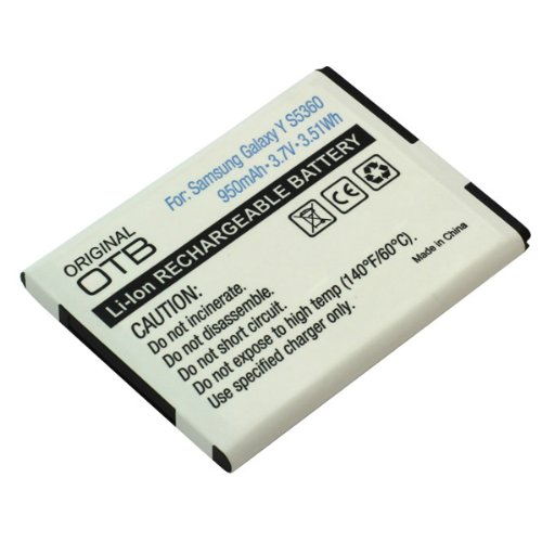 Akku, Ersatzakku EB-454357VU / EB454357VU mit 1300mAh !!! für Samsung Galaxy Y S5360 / Galaxy Pocket / Galaxy Y Duos / GT-S5300 / GT-S5360 / GT-S5368 / GT-S5380 / GT-S5380D / Wave Y mit Hohe Kapazität und ohne Memory-Effekt ersetzt EB-454357VU Li-Ion PDA-Punkt