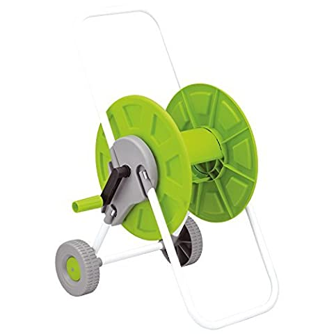 Parkland 60m Hose Pipe Reel Holder Trolley Cart Garden Water Portable Free Standing