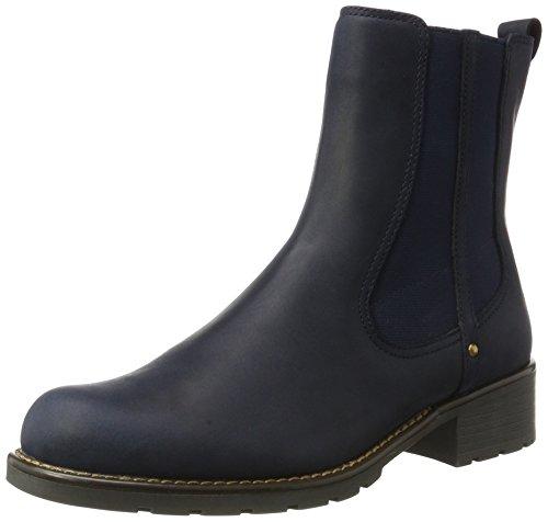 Clarks Women's Orinoco Club Chelsea Boots, Blue (Navy Nubuck), 6 6 UK