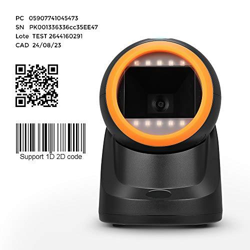 MUNBYN Lector de Código de Barras 1D / 2D Omnidireccional, Escanér Automáticamente Barcode Scanner...