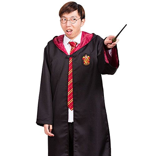 Harry Potter Jugend Erwachsene Robe Umhang Gryffindor Fancy Dress Party Cosplay (Harry Potter) (XL) (Erwachsene Harry Kostüm Potter)