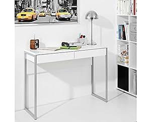 Tvilum Bureau contemporain 2 tiroirs Blanc