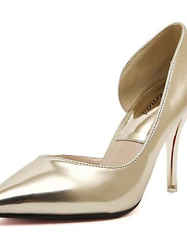 WSS 2016 Chaussures Femme-Mariage / Bureau & Travail / Habillé / Décontracté / Soirée & Evénement-Argent / Or-Talon Aiguille-Talons-Talons- golden-us7.5 / eu38 / uk5.5 / cn38