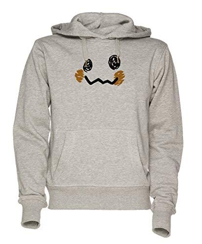 cht - Pokémon Unisex Grau Sweatshirt Kapuzenpullover Herren Damen Größe L | Unisex Sweatshirt Hoodie for Men and Women Size L ()