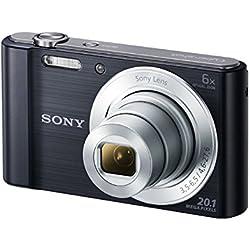 """Sony DSC-W810 - Cámara compacta de 20.1 Mp (pantalla de 2.7"""", zoom óptico 6x, estabilizador digital), negro"""