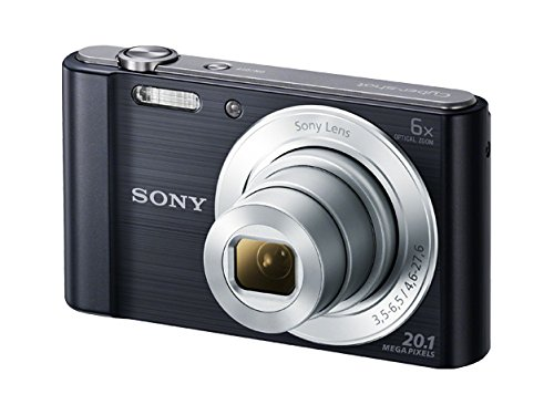 Sony DSC-W810 Digitalkamera (20,1 Megapixel, 6x optischer Zoom (12x digital), 6,8 cm (2,7 Zoll) LC-Display, 26mm Weitwinkelobjektiv, SteadyShot) schwarz (Dvd Camcorder Digital)