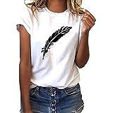 Luckycat Camisetas Mujer Manga Corta Verano t Shirt Mujer Blanca Negro Camisetas de Mujer Tumblr Vogue Camiseta Mujer Casual Top tee Mujer Camiseta Tallas Grandes Slim Fit Camisas Mujer Blusas