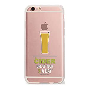 DailyObjects Cider Silicone Clear Case For iPhone 6S