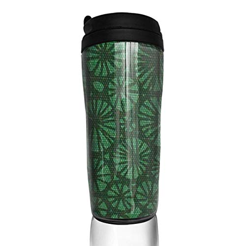 Travel Coffee Mug Sakura Green 12 Oz Spill Proof Flip Lid Water Bottle Environmental Protection Material ABS