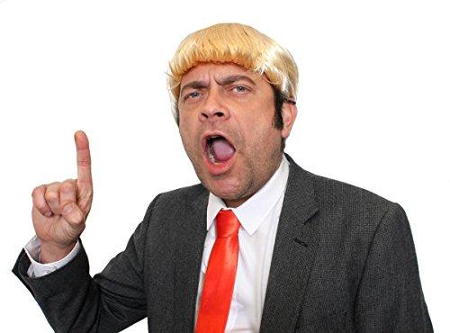 ILOVEFANCYDRESS Donald Trump KOSTÜM VERKLEIDUNGS Set PERFEKTE AMERIKANISCHE PRESIDENTEN VERKLEIDUNG FÜR Dieses Jahr UM AUF ZU Fallen=1 PERÜCKE MIT 1 ROTEN Krawatte