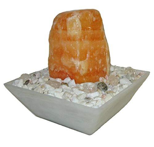Troester's Brunnenwelt Selina Orangencalcit mit Pumpe und Zierkiesel, Quellstein aus echtem Orangencalcit, kleiner...