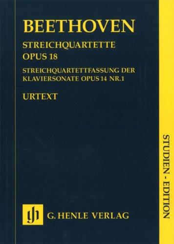Quatuors cordes Opus 18/1-6 Opus 14/1 --...
