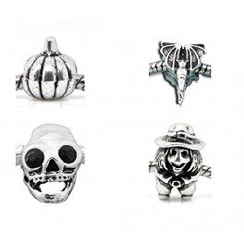 Stück Halloween Charme Perlen passend für die meisten Charm-Armbänder für Frauen und Mädchen ()