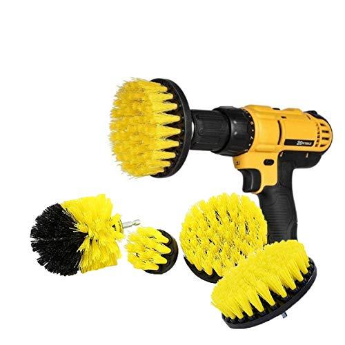Set di 4 spazzole per trapano, kit per la pulizia di auto, bagno, pavimenti in legno, lavanderia N9000 Iii