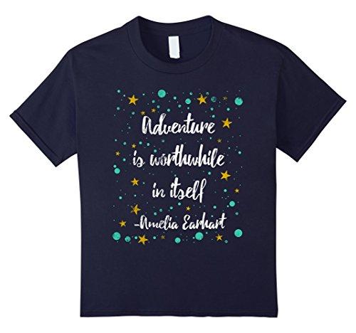 Amelia Earhart T-Shirt. Amelia Earhart Flying Shirt Kinder, Größe 104 (Kinder Amelia Earhart Für)