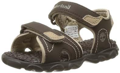 Timberland Boys Splashtown 2 Strap Fashion Sandals C7787R Brown, 4.5 Child UK, 21 EU