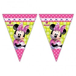 Minnie Mouse Party - Minnie Bow-tique Party Flag Banner Bunting