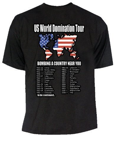 Preisvergleich Produktbild U.S. World Domination Tour T-Shirt in Größe XXL USA World Tour 2XL
