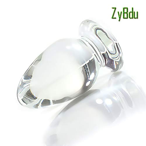 ZyBdu Kristall Analplug Selbstbefriedigung den Anus Stimulieren Männer und Frauen zur Verfügung 7.6cm/3in Umweltfreundliches Glas