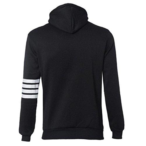 Tonsee® Mode homme Pulls Marque Sport Suit Haute Qualité Sweatshirt à capuche Casual Zipper capuche Vestes Homme Noir