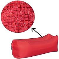 YJchairs Faule Sofa-aufblasbare Luft-Strand-Bett-tragbarer Pool-Mittagspause-Schlafsack (Farbe : Red) preisvergleich bei kinderzimmerdekopreise.eu