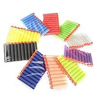100PCS Refill Bullet Darts Nerf N-strike Elite Series Blasters Toy gun 10 Color