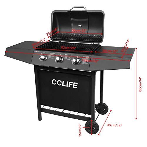 CCLIFE Gasgrill Grillwagen Gas Grill Barbecue Toronto Grill 3/4/5/6 Brenner TÜV geprüft