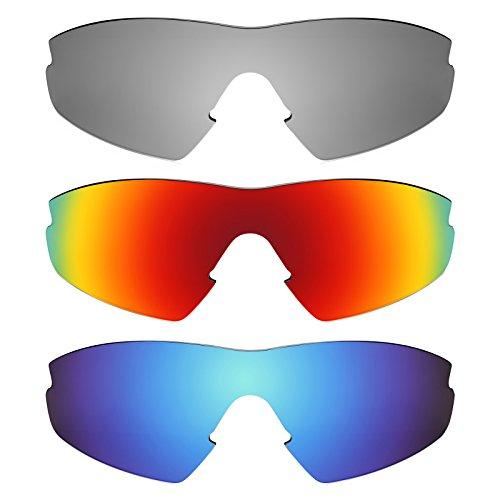 Revant Ersatzlinsen für Oakley M2 (Aero) Polarisiert 3 Paar Kombipack K014