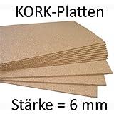 Planchas de corcho (50 x 100 cm, 6 mm grosor, elástico y antiestático)
