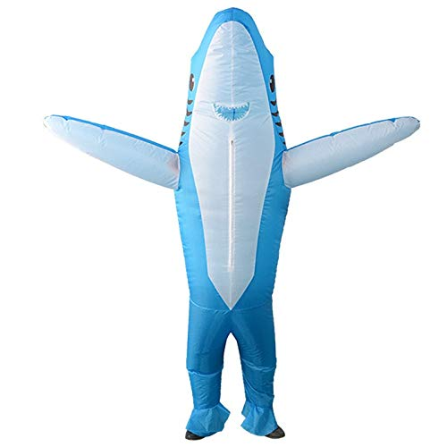Pet Overall Hai Kostüm - lem Hai Aufblasbare Blow Up Ganzkörperanzug Overall Kostüm Halloween Rollenspiele für Erwachsene Männer und Frauen Kleidung