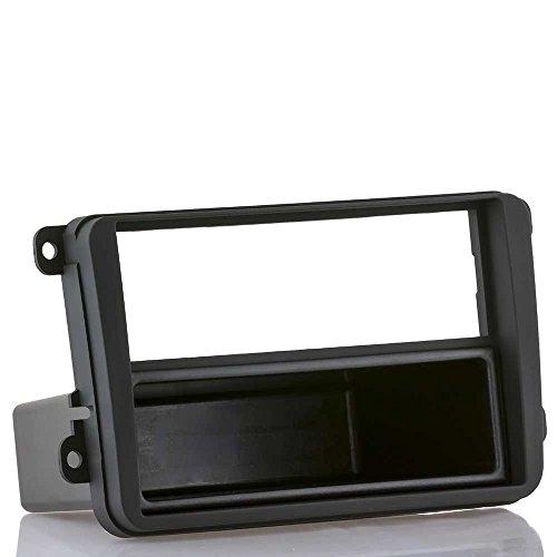 Soft-touch Radioblende passend für VW Golf 5 6 Passat EOS + SKODA + SEAT (Radioblende in Softtouch inkl. Ablagefach)