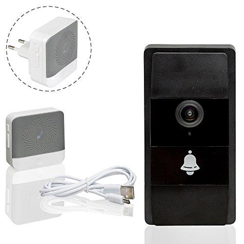 Safe2Home® 1x Türklingel Kamera Kabellos mit Akku - Wifi und Nachtsicht Cam - Video Klingel per Handy App abrufbar