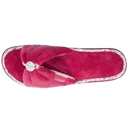 Isotoner ,  Pantofole Donna Bordeaux