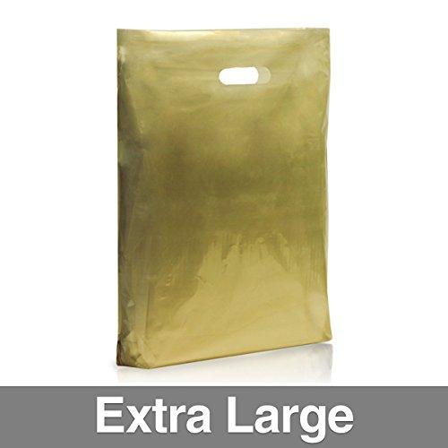Confezione di 500] Oro Sacchetti di plastica con maniglia XL Gold