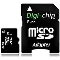 Digi-Chip 64 GO CLASS 10 UHS-1 MICRO-SD CARTE MÉMOIRE POUR Samsung Galaxy J1, Galaxy J2, Galaxy J3, Galaxy J5, Galaxy J7, J2 Pro & J3 Pro
