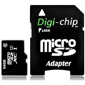 Digi-Chip 64 GO CLASS 10 UHS-1 MICRO-SD CARTE MÉMOIRE POUR Microsoft Lumia 430, Lumia 532, Lumia 540, Lumia 640 LTE & XL